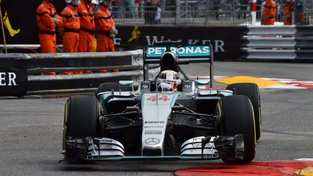 Lewis Hamilton (GBR) Mercedes AMG F1 W06 at Formula One World Championship, Rd6, Monaco Grand Prix Practice, Monte-Carlo, Monaco, Thursday 21 May 2015. &copy&#x3b; Sutton Motorsport Images