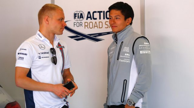 Valtteri Bottas (FIN) Williams and Rio Haryanto (IDN) Manor Racing at Formula One World Championship, Rd5, Spanish Grand Prix, Race, Barcelona, Spain, Sunday 15 May 2016. &copy&#x3b; Sutton Images