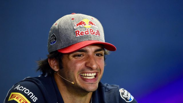 Carlos Sainz jr (ESP) Scuderia Toro Rosso in the Press Conference at Formula One World Championship, Rd11, Preparations, Hungaroring, Hungary, Thursday 21 July 2016. &copy&#x3b; Sutton Images