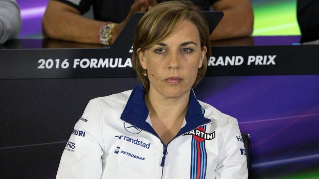 Claire Williams (GBR) Williams Deputy Team Principal in the Press Conference at Formula One World Championship, Rd10, British Grand Prix, Practice, Silverstone, England, Friday 8 July 2016. &copy&#x3b; Sutton Images