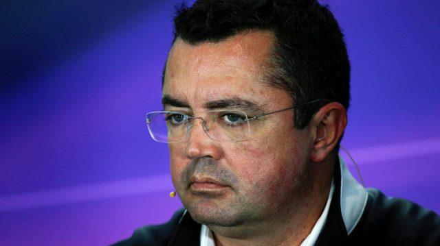 Eric Boullier (FRA) McLaren Racing Director in the Press Conference at Formula One World Championship, Rd10, British Grand Prix, Practice, Silverstone, England, Friday 8 July 2016. &copy&#x3b; Sutton Images