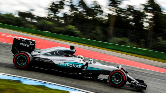 Lewis Hamilton (GBR) Mercedes-Benz F1 W07 Hybrid at Formula One World Championship, Rd12, German Grand Prix, Qualifying, Hockenheim, Germany, Saturday 30 July 2016. &copy&#x3b; Sutton Images