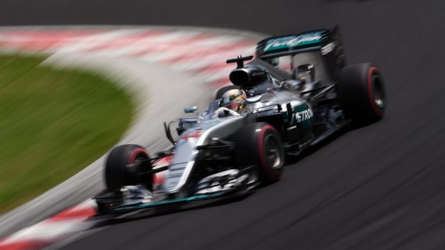 Lewis Hamilton (GBR) Mercedes-Benz F1 W07 Hybrid at Formula One World Championship, Rd11, Hungarian Grand Prix, Qualifying, Hungaroring, Hungary, Saturday 23 July 2016. &copy&#x3b; Sutton Images