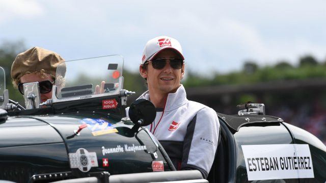Esteban Gutierrez (MEX) Haas F1 on the drivers parade at Formula One World Championship, Rd12, German Grand Prix, Race, Hockenheim, Germany, Sunday 31 July 2016. &copy&#x3b; Sutton Images
