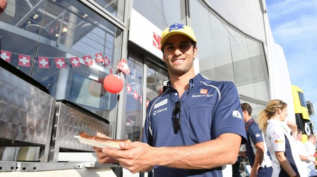 Felipe Nasr (BRA) Sauber at Sauber Swiss Day at Formula One World Championship, Rd12, German Grand Prix, Qualifying, Hockenheim, Germany, Saturday 30 July 2016. &copy&#x3b; Sutton Images