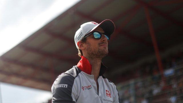 Romain Grosjean (FRA) Haas F1 on the drivers parade at Formula One World Championship, Rd13, Belgian Grand Prix, Race, Spa Francorchamps, Belgium, Sunday 28 August 2016. &copy&#x3b; Sutton Images