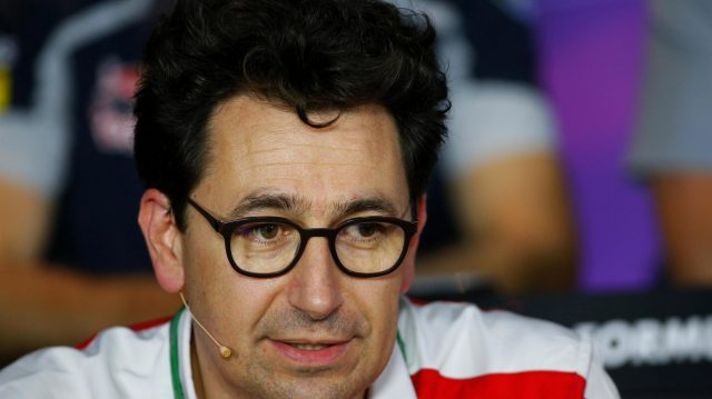 Mattia Binotto (ITA) Ferrari Chief Technical Officer in the Press Conference at Formula One World Championship, Rd14, Italian Grand Prix, Practice, Monza, Italy, Friday 2 September 2016. &copy&#x3b; Sutton Images