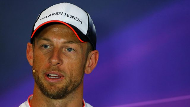 Jenson Button (GBR) McLaren in the Press Conference at Formula One World Championship, Rd14, Italian Grand Prix, Preparations, Monza, Italy, Thursday 1 September 2016. &copy&#x3b; Sutton Images