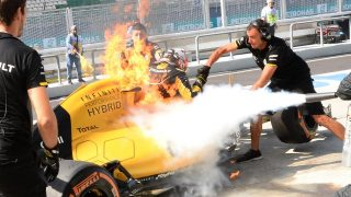 Renault suspect fuel leak to blame for fire