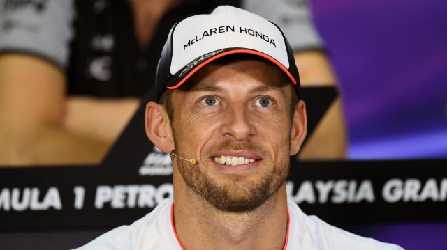 Jenson Button (GBR) McLaren in the Press Conference at Formula One World Championship, Rd16, Malaysian Grand Prix, Preparations, Sepang, Malaysia, Thursday 29 September 2016. &copy&#x3b; Sutton Images