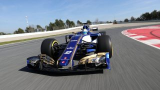 New Sauber hits the track in Barcelona