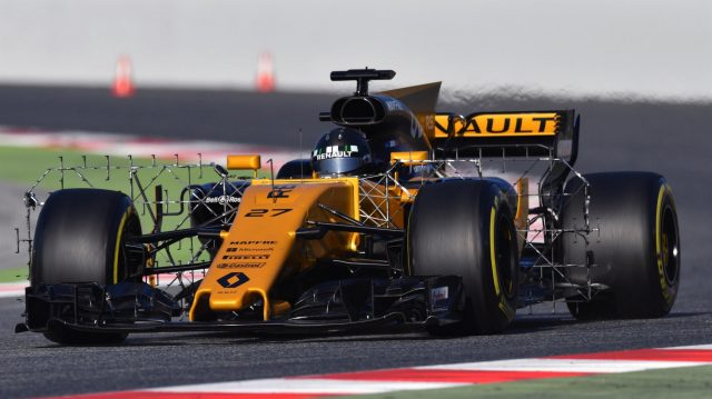 Nico Hulkenberg (GER) Renault Sport F1 Team RS17 with aero sensors at Formula One Testing, Day Four, Barcelona, Spain, 10 March 2017. &copy&#x3b; Sutton Images