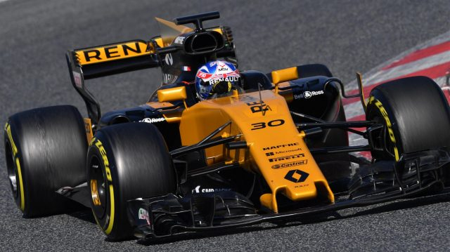 Jolyon Palmer (GBR) Renault Sport F1 Team RS17 at Formula One Testing, Day Three, Barcelona, Spain, 9 March 2017. &copy&#x3b; Sutton Images