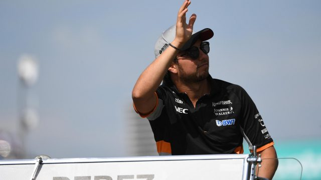Sergio Perez (MEX) Force India on the drivers parade at Formula One World Championship, Rd1, Australian Grand Prix, Race, Albert Park, Melbourne, Australia, Sunday 26 March 2017. &copy&#x3b; Sutton Motorsport Images