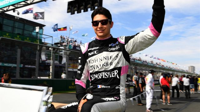 Esteban Ocon (FRA) Force India F1 on the drivers parade at Formula One World Championship, Rd1, Australian Grand Prix, Race, Albert Park, Melbourne, Australia, Sunday 26 March 2017. &copy&#x3b; Sutton Motorsport Images