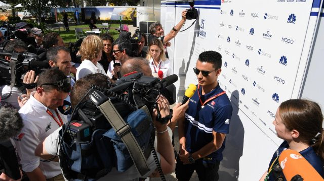 Pascal Wehrlein (GER) Sauber talks with the media at Formula One World Championship, Rd1, Australian Grand Prix, Qualifying, Albert Park, Melbourne, Australia, Saturday 25 March 2017. &copy&#x3b; Sutton Motorsport Images