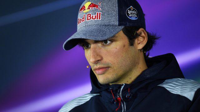Carlos Sainz jr (ESP) Scuderia Toro Rosso in the Press Conference at Formula One World Championship, Rd2, Chinese Grand Prix, Preparations, Shanghai, China, Thursday 6 April 2017. &copy&#x3b; Sutton Motorsport Images