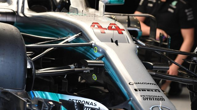 Mercedes-Benz F1 W08 Hybrid in the garage at Formula One World Championship, Rd5, Spanish Grand Prix, Preparations, Barcelona, Spain, Thursday 11 May 2017. &copy&#x3b; Sutton Motorsport Images