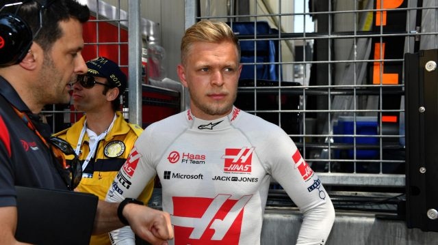 Kevin Magnussen (DEN) Haas F1 on the grid at Formula One World Championship, Rd6, Monaco Grand Prix, Race, Monte-Carlo, Monaco, Sunday 28 May 2017. &copy&#x3b; Sutton Images