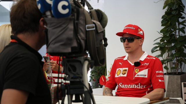 Kimi Raikkonen (FIN) Ferrari talks to the media at Formula One World Championship, Rd7, Canadian Grand Prix, Preparations, Montreal, Canada, Thursday 8 June 2017. &copy&#x3b; Sutton Motorsport Images