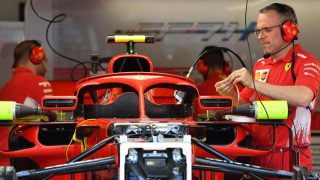 Ferrari unveil revised halo-mounted mirror layout in Monaco