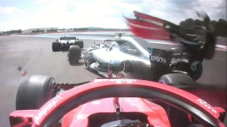 Vettel shoulders blame for Bottas crash