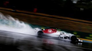 FP3: Leclerc heads rain-hit session in Germany