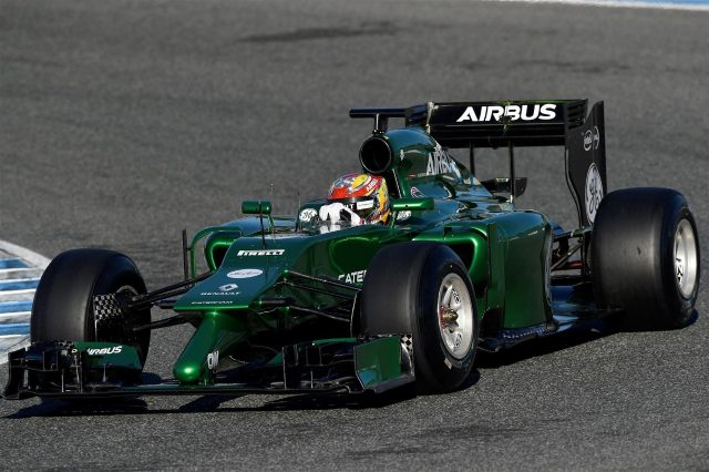 Robin Frijns (NDL) Caterham CT05. Formula One Testing, Jerez, Spain, Day Three, Thursday, 30 January 2014