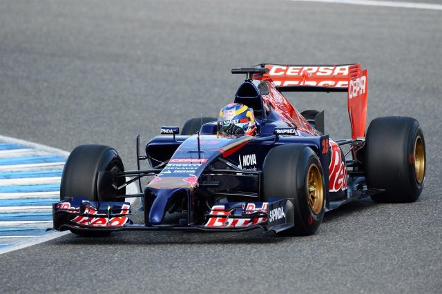 Jean-Eric Vergne (FRA) Scuderia Toro Rosso STR9. Formula One Testing, Jerez, Spain, Day One, Tuesday, 28 January 2014