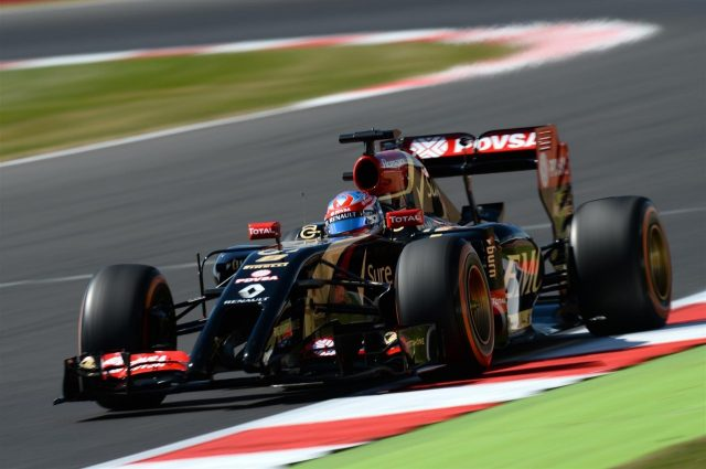 Romain Grosjean (FRA) Lotus E22. Formula One World Championship, Rd9, British Grand Prix, Practice, Silverstone, England, Friday, 4 July 2014