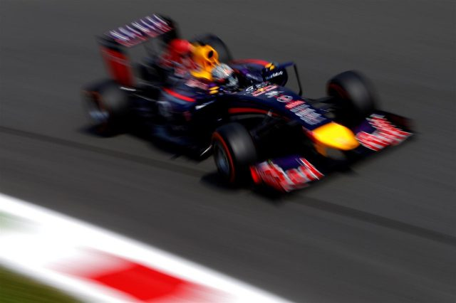 Sebastian Vettel (GER) Red Bull Racing RB10. Formula One World Championship, Rd13, Italian Grand Prix, Monza, Italy, Practice, Friday, 5 September 2014