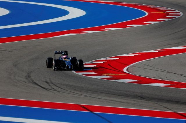Jenson Button (GBR) McLaren MP4-29. Formula One World Championship, Rd17, United States Grand Prix, Qualifying, Austin, Texas, USA, Saturday, 1 November 2014