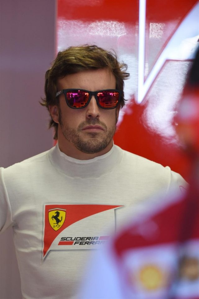 Fernando Alonso (ESP) Ferrari. Formula One World Championship, Rd3, Bahrain Grand Prix, Preparations, Bahrain International Circuit, Sakhir, Bahrain, Thursday, 3 April 2014 © Sutton Images. No reproduction without permission