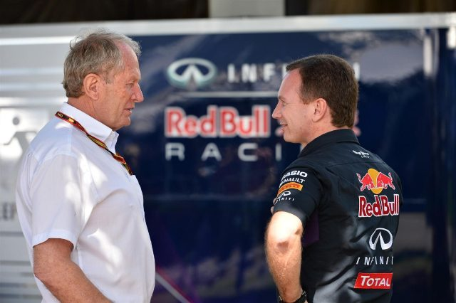(L to R): Dr Helmut Marko (AUT) Red Bull Motorsport Consultant and Christian Horner (GBR) Red Bull Racing Team Principal. Formula One World Championship, Rd1, Australian Grand Prix, Practice, Albert Park, Melbourne, Australia, Friday, 14 March 2014