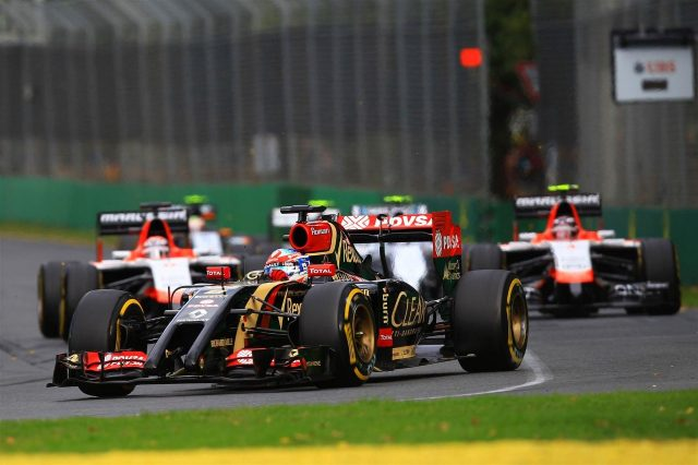 Romain Grosjean (FRA) Lotus E22. Formula One World Championship, Rd1, Australian Grand Prix, Race, Albert Park, Melbourne, Australia, Sunday, 16 March 2014
