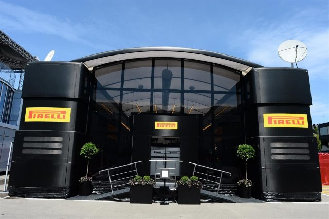 Pirelli motorhome. Formula One World Championship, Rd5, Spanish Grand Prix, Preparations, Barcelona, Spain, Thursday, 8 May 2014
