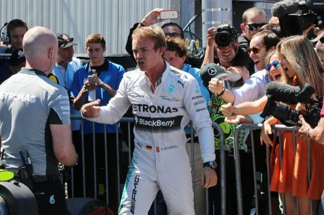 Pole sitter Nico Rosberg (GER) Mercedes AMG F1 celebrates in parc ferme. Formula One World Championship, Rd6, Monaco Grand Prix, Qualifying, Monte-Carlo, Monaco, Saturday, 24 May 2014