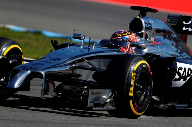Jenson Button (GBR) McLaren MP4-29. Formula One World Championship, Rd10, German Grand Prix, Practice, Hockenheim, Germany, Friday, 18 July 2014