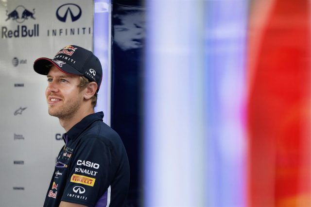 Sebastian Vettel (GER) Red Bull Racing. Formula One World Championship, Rd9, British Grand Prix, Preparations, Silverstone, England, Thursday, 3 July 2014