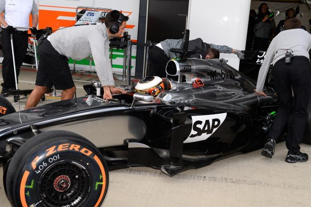 Stoffel Vandoorne (BEL) McLaren MP4-29. Formula One Testing, Silverstone, England, Day One, Tuesday, 8 July 2014
