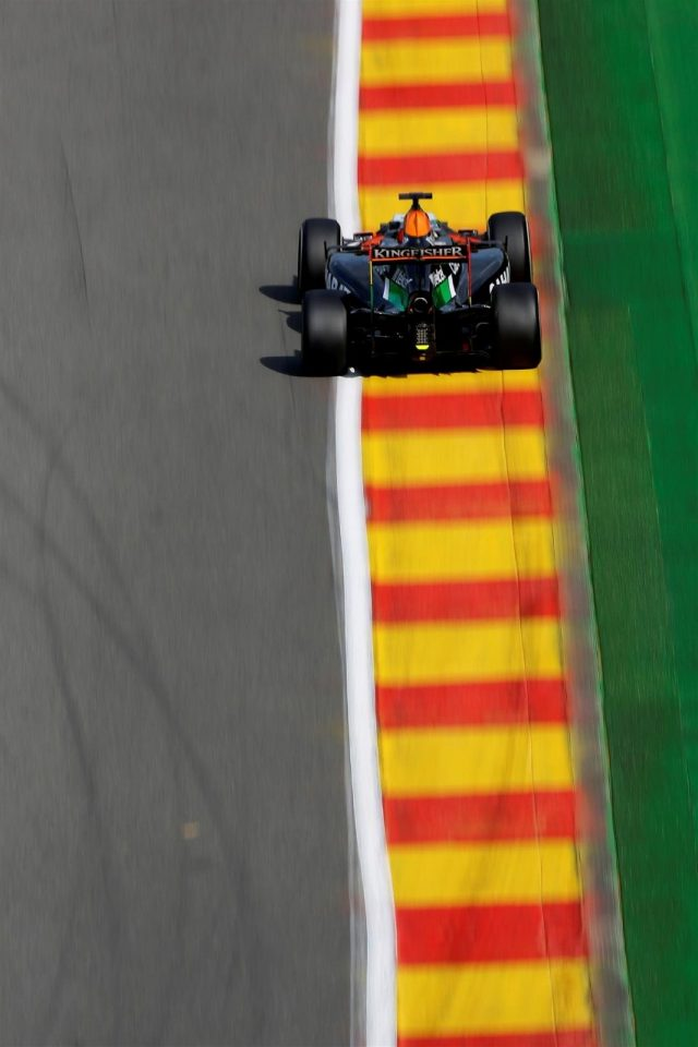 Nico Hulkenberg (GER) Force India VJM07. Formula One World Championship, Rd12, Belgian Grand Prix, Practice, Spa-Francorchamps, Belgium, Friday, 22 August 2014