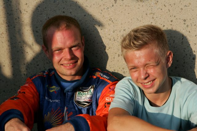 Jan Magnussen (DEN) SunTrust Racing with his son Kevin Magnussen (DEN)