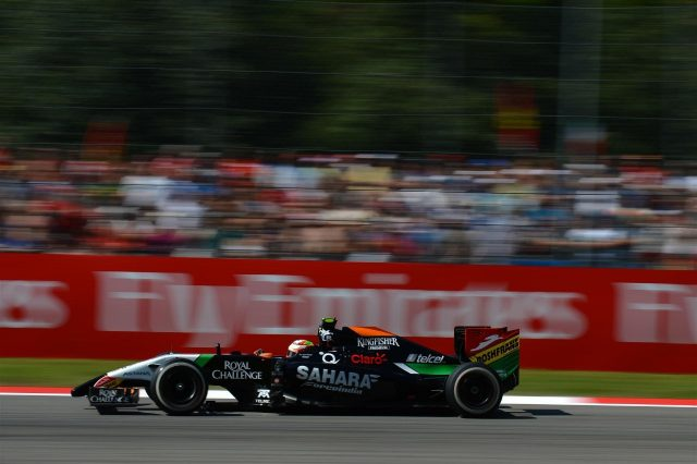 Sergio Perez (MEX) Force India VJM07. Formula One World Championship, Rd13, Italian Grand Prix, Monza, Italy, Qualifying, Saturday, 6 September 2014