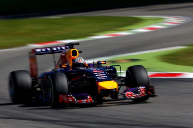 Sebastian Vettel (GER) Red Bull Racing RB10. Formula One World Championship, Rd13, Italian Grand Prix, Monza, Italy, Qualifying, Saturday, 6 September 2014