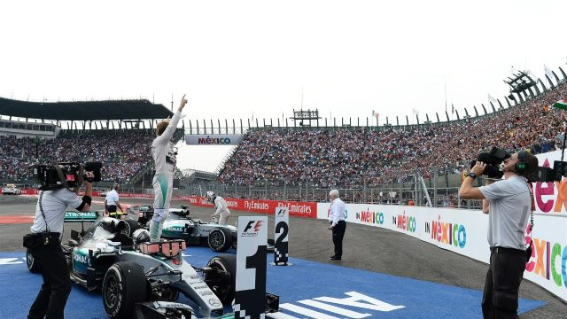 Race winner Nico Rosberg (GER) Mercedes AMG F1 W06 celebrates in parc ferme at Formula One World Championship, Rd17, Mexican Grand Prix, Race, Circuit Hermanos Rodriguez, Mexico City, Mexico, Sunday 1  November 2015. &copy&#x3b; Sutton Motorsport Images