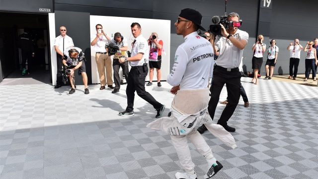 Lewis Hamilton (GBR) Mercedes AMG F1 at Formula One World Championship, Rd9, British Grand Prix, Qualifying, Silverstone, England, Saturday 4 July 2015. &copy&#x3b; Sutton Motorsport Images