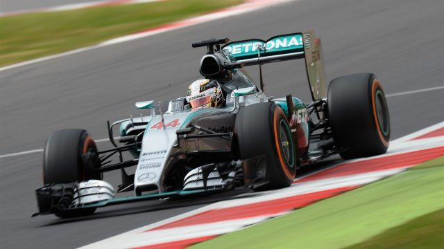 Lewis Hamilton (GBR) Mercedes AMG F1 W06 at Formula One World Championship, Rd9, British Grand Prix, Qualifying, Silverstone, England, Saturday 4 July 2015. &copy&#x3b; Sutton Motorsport Images