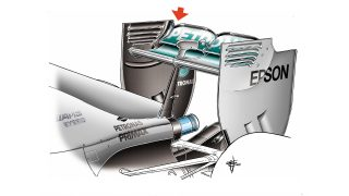 Mercedes F1 W06 Hybrid - cut rear wing