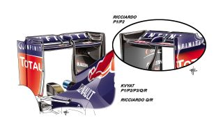 Red Bull RB11 - rear wing updates