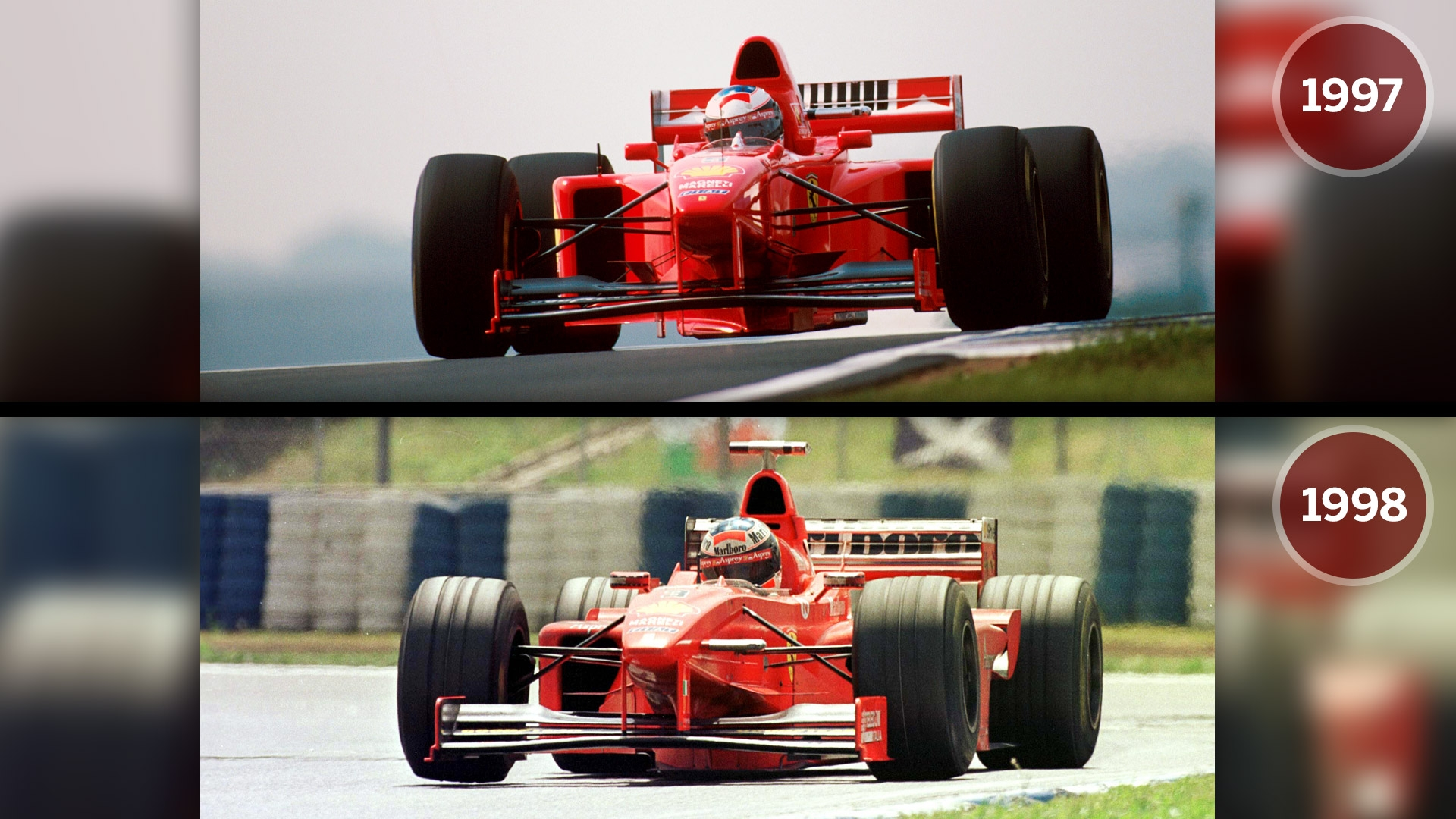 the second major rule change was to the overall width or track of the cars which was slashed by 12 percent from 200cm to 180cm see above and below